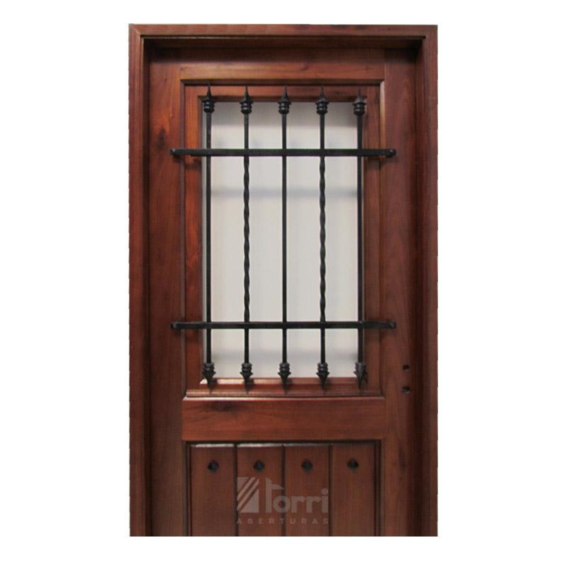 Puerta madera gradis modelo normanda 1 2 vidrio de 0 80 2 00 aberturas torri - Puertas de madera con cristal ...